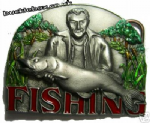 FISHING Belt Buckle + display stand